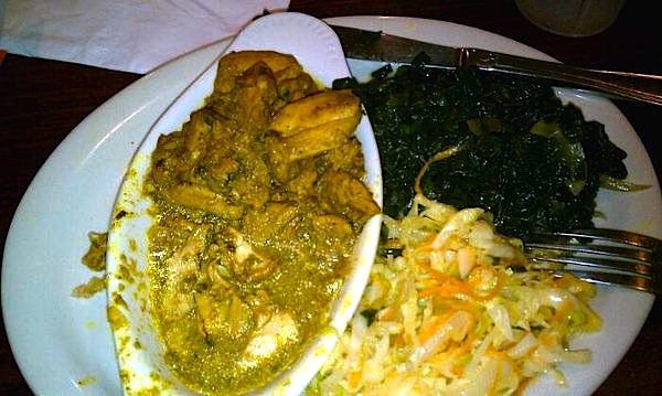 Curry Chicken & Spinach @ Swahili