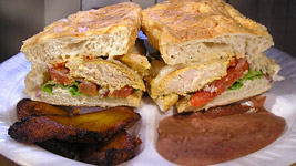 Salvadoran Chicken Sandwich