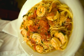 Shrimp Linguine @ Carmine's