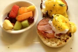 Tonic Eggs Benedict & Fruit