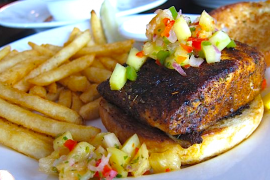 Blackened Salmon Sandwich @ Zibibbo 73