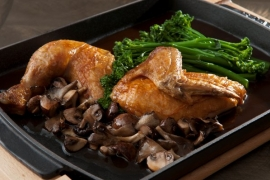 Fire Roasted Ayshire Farms Half Chicken
