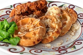 Benne Seed Chicken 'N Waffles